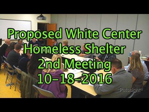 White Center Homeless Shelter 2nd Meeting 10-18-16