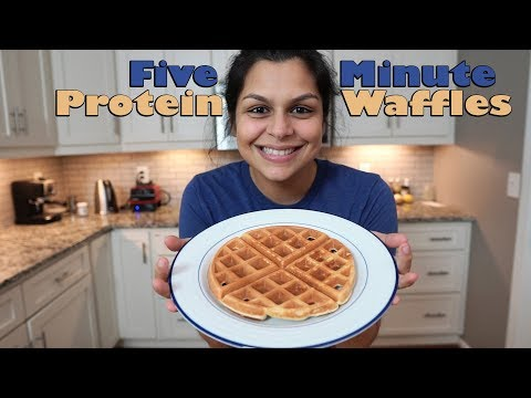 Five Minute Protein Waffles   Easy Keto Recipes