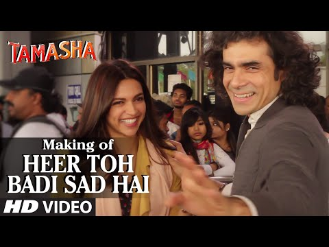 'Heer Toh Badi Sad Hai' Backstage VIDEO | Tamasha | Deepika Padukone | T-Series
