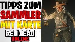 SAMMLER ROLLEN TIPPS - KARTE mit 80 Gegenständen   Neues Update Red Dead Redemption 2 Online Deutsch