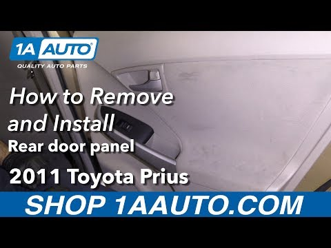 How To Remove Rear Door Panel 10 15 Toyota Prius Youtube