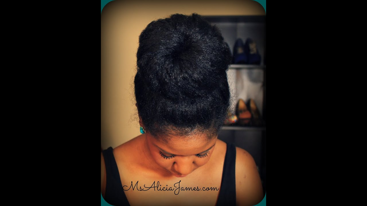 Big High Bun On Natural Hair Natural Hairstyles Youtube