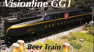 Lionel Visionline Pennsylvania GG1 Beer Train 🍻 & demo