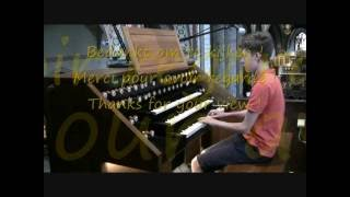 Gigi d'Agostino - l'amour toujours on church organ played by Antoine Anneessens