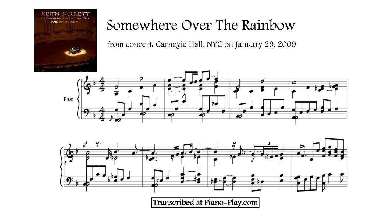 Keith jarrett somewhere over the rainbow from carnegie hall keith jarrett somewhere over the rainbow from carnegie hall 2009 transcription hexwebz Gallery