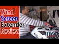 WINDSCREEN EXTENDER INSTALLATION AND REVIEW ON BMW 1200GS ADVENTURE