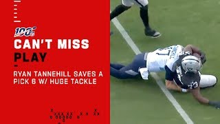 Ryan Tannehill Saves His Own Pick 6 w/ a Huge Hit!