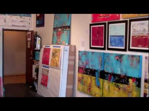 Art-A-Whirl 2012 Artist Studio Tour Abstract Paintings - Shawn McNulty Minneapolis