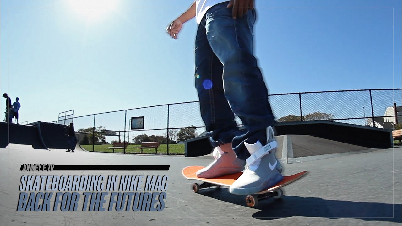 Skateboarding in Nike MAG Back For The Futures - YouTube c7c36d40b