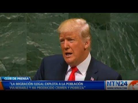 """Trump pide ayuda en la ONU para """"restaurar la democracia"""" en Venezuela"""
