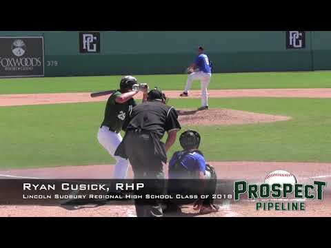 Ryan Cusick Prospect Video, RHP, Lincoln Sudbury Regional High School Class of 2018