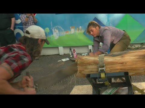 Timberwolves Lumberjack Show Stops By WCCO 4 At The Fair!