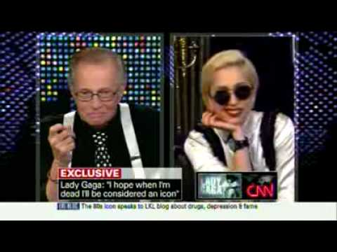 Lady Gaga FULL Interview On Larry King Live 06_01_2010 (Part-1) she was on cocaine!