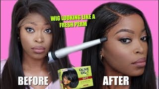 |START TO FINISH| How to Lay Your Lace Frontal Flat & Have it looking like a FRESH PERM: WOW AFRICAN