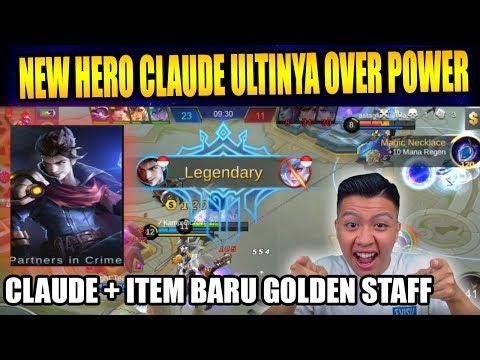 SADIS BANGET NIH NEW HERO CLAUDE DAN ITEM BARU - Mobile Legend Bang Bang