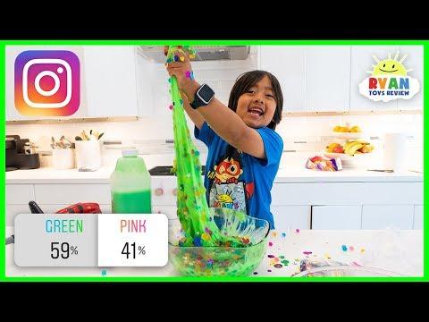 Instagram Followers Control my Slime DIY Slime Challenge with Ryan
