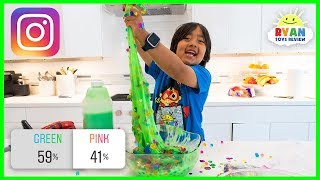 Instagram Followers Control my Slime!!! DIY Slime Challenge with Ryan!