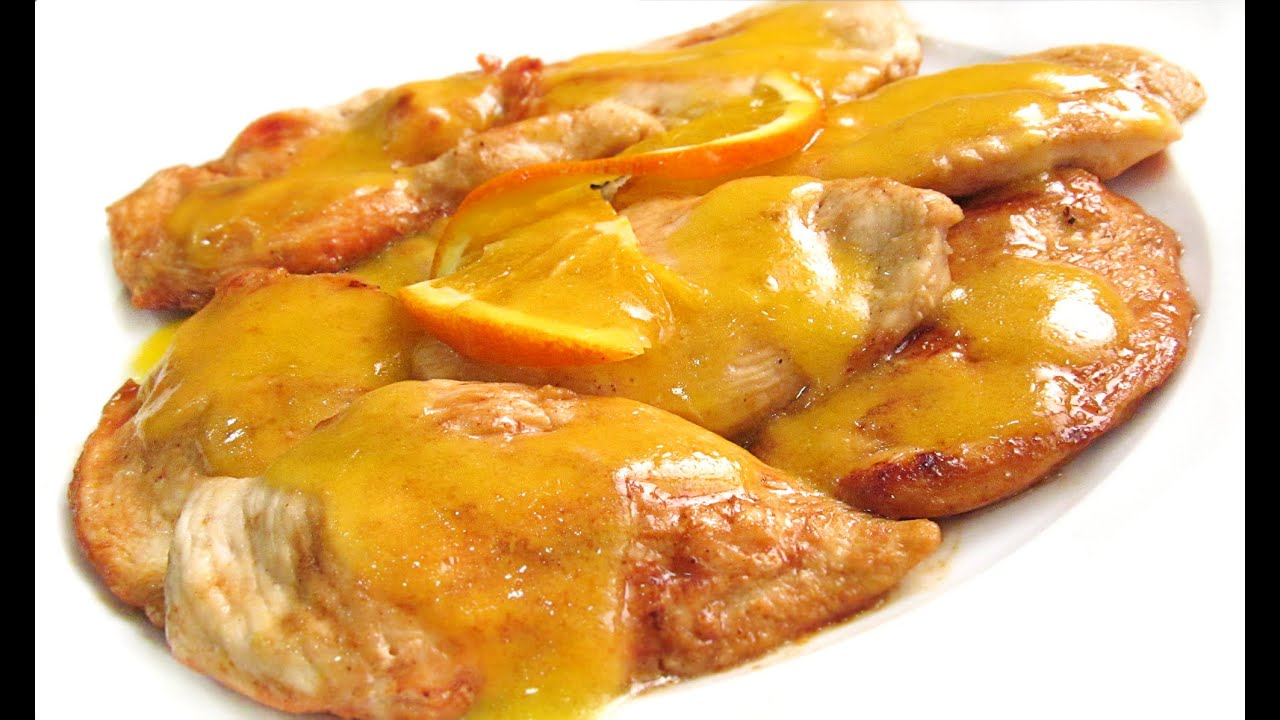 Receta de Filetes de pechuga de pavo con salsa de