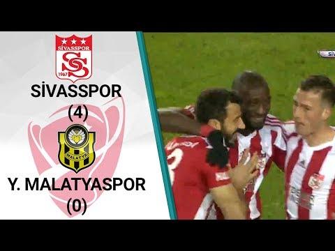 Sivasspor 4 - 0 Malatyaspor (Ziraat Türkiye Kupası Son 16 Turu İlk Maçı)