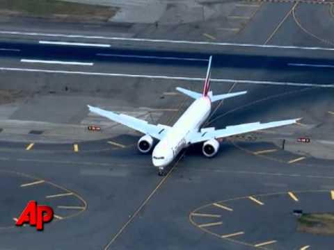 Raw Video: Plane From Yemen Escorted to NYC