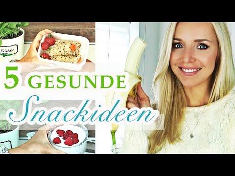 5 Schnelle GESUNDE SNACKS für SCHULE / UNI / BÜRO | Snacks zum ABNEHMEN Selber Machen | Vegetarisch