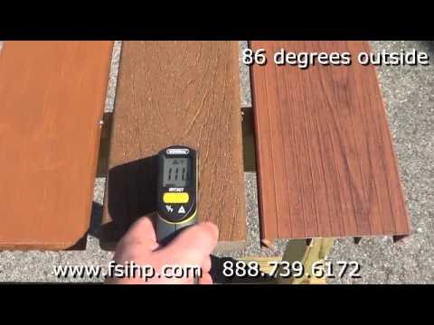 Decking Heat Test Comparison