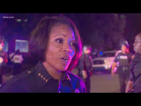 Dallas Police Chief Renee Hall On Dispersing The Crowd After Bricks Thrown, Property Damaged During