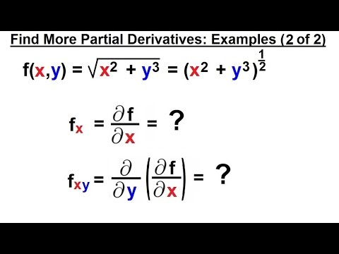 Calculus 3 Partial Derivative 14 Of 30 Find More Partial
