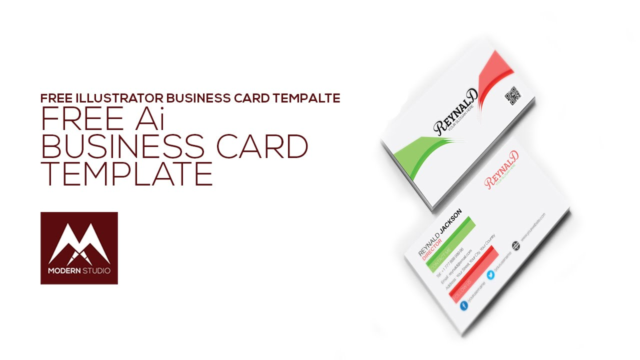 Free Illustrator Business Card Template YouTube - Business card template illustrator