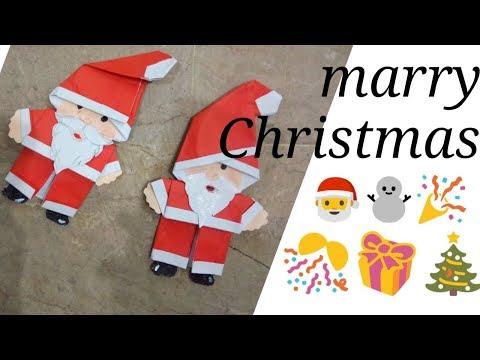 Easy paper santa Christmas