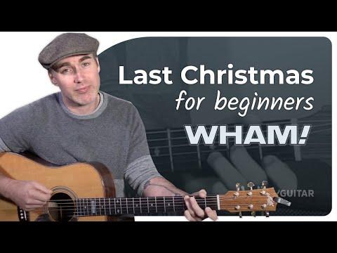 Wham Last Christmas Guitar Lesson Tutorial Chord Strumming & More! George Michael JustinGuitar