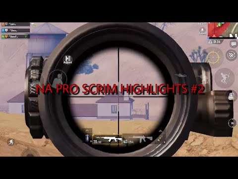 PUBG MOBILE/ NA PRO SCRIM HIGHLIGHTS #2/ SV Edwin
