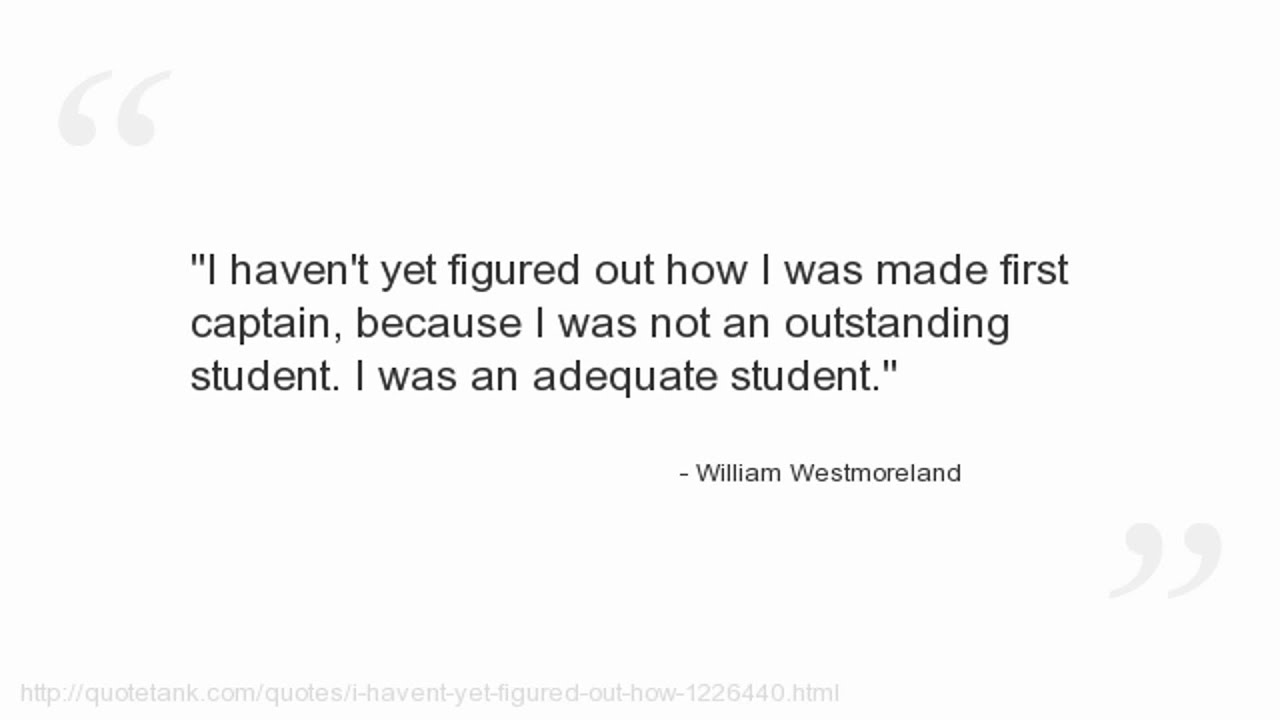 Offensive Quotes Magnificent William Westmoreland Quotes  Youtube
