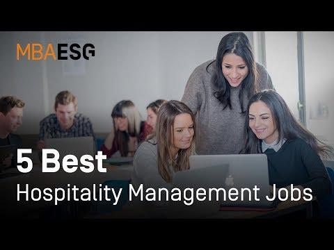 5 Best Jobs For Hospitality Management Graduates
