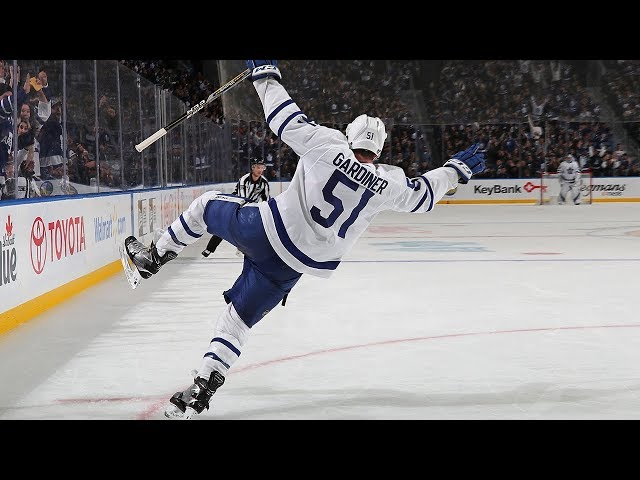 Jake Gardiner cashes in on beautiful backhanded pass