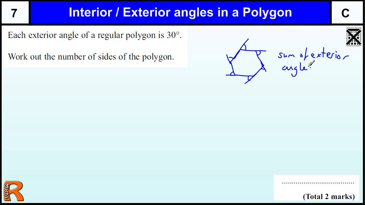 Angles In A Polygon Gcse Maths Higher Foundation Revision Exam Paper Practice Help Youtube
