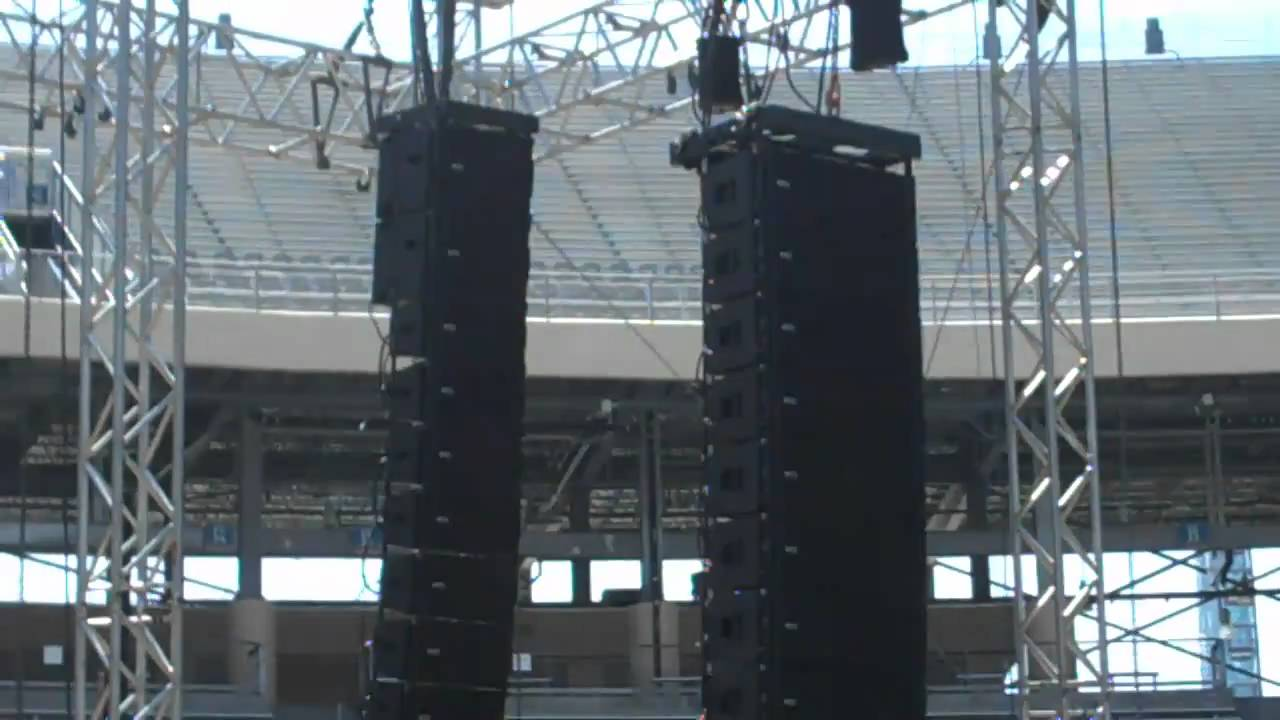 RCF Line Array TTL55-A TTS-56-A Demo In the Cotton Bowl in Dallas TX