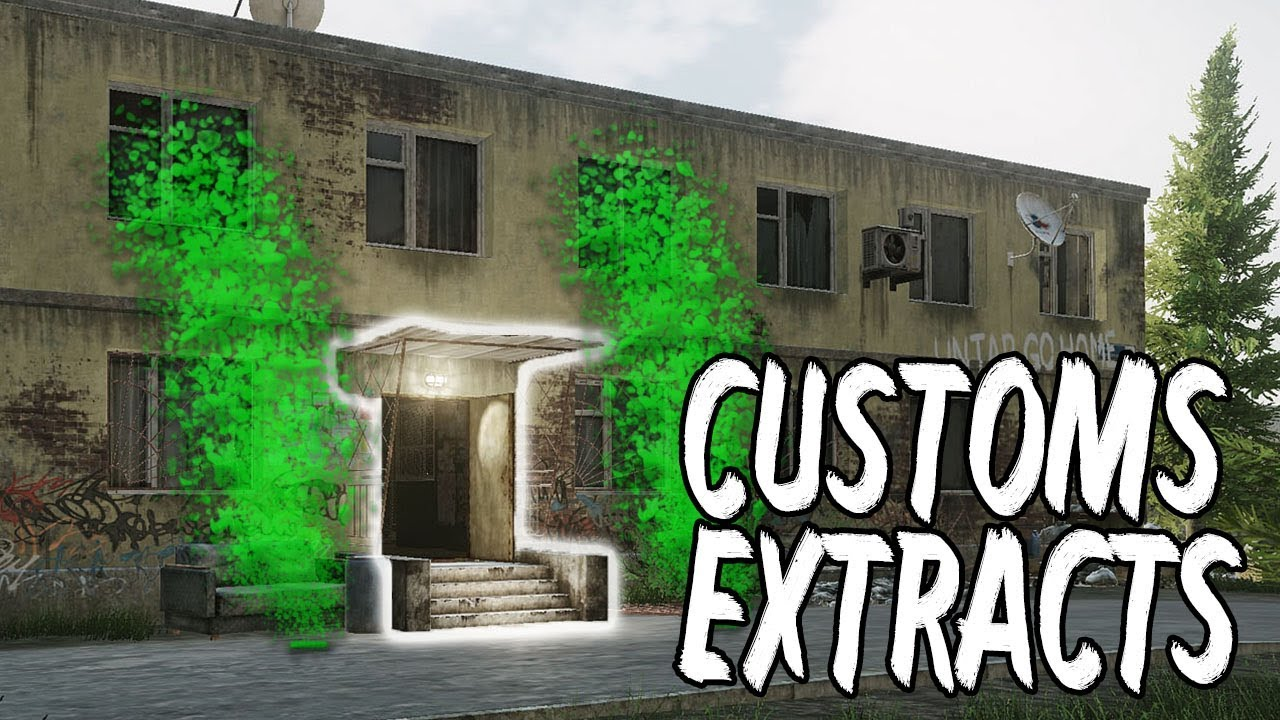 Customs Extraction Points Escape From Tarkov Free Download Map Youtube