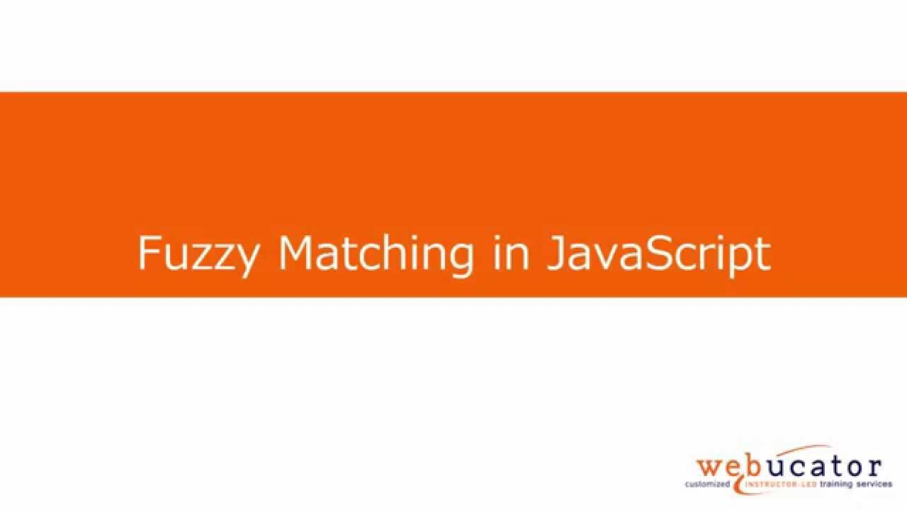 Fuzzy Matching in JavaScript