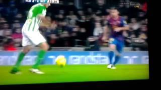 Real betis 2-2 mål mot barcelona