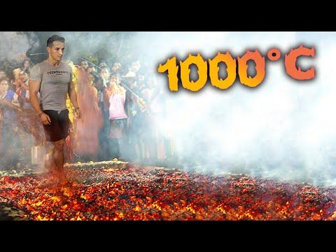 JE MARCHE SUR LE FEU À 1000°C !!