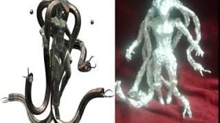 Laughing Octopus - Aluminum Foil Sculpture