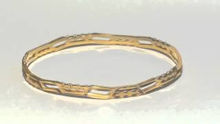 Sparkling Gold Plated Fashion Bangles Thumbnail