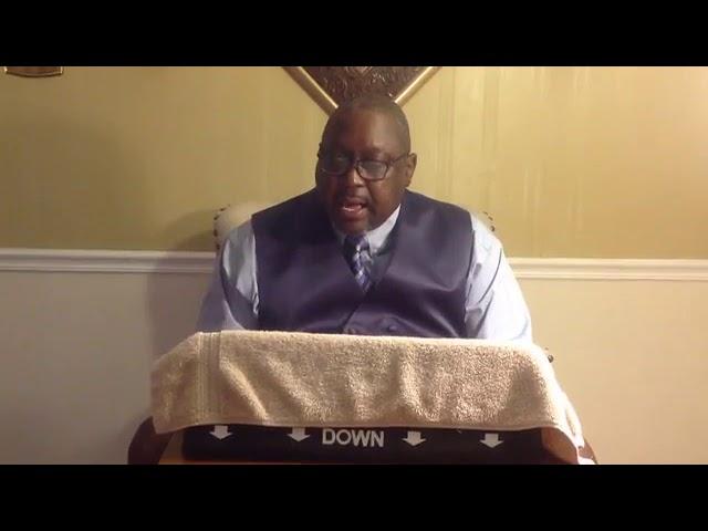 Sunday's Sermon November 22, 2020 Bro John T. Somerville