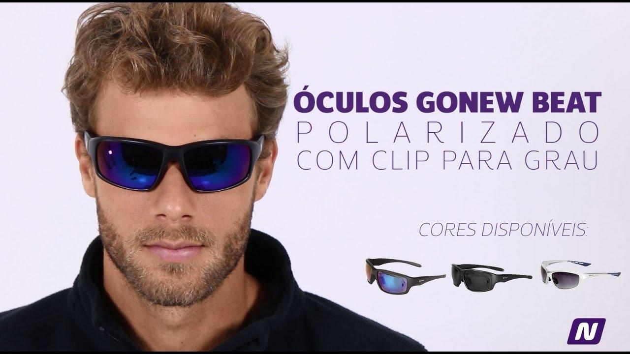 Óculos Gonew Beat com Clip para Grau Removível – Polarizado - YouTube 7e195ae513
