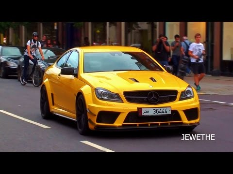 LOUD Arab Mercedes-Benz C63 AMG Black Series w/ MHP Exhaust in London!!