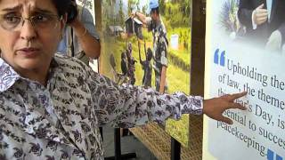 Kiran Bedi inaugurates UN Information Centre exhibit