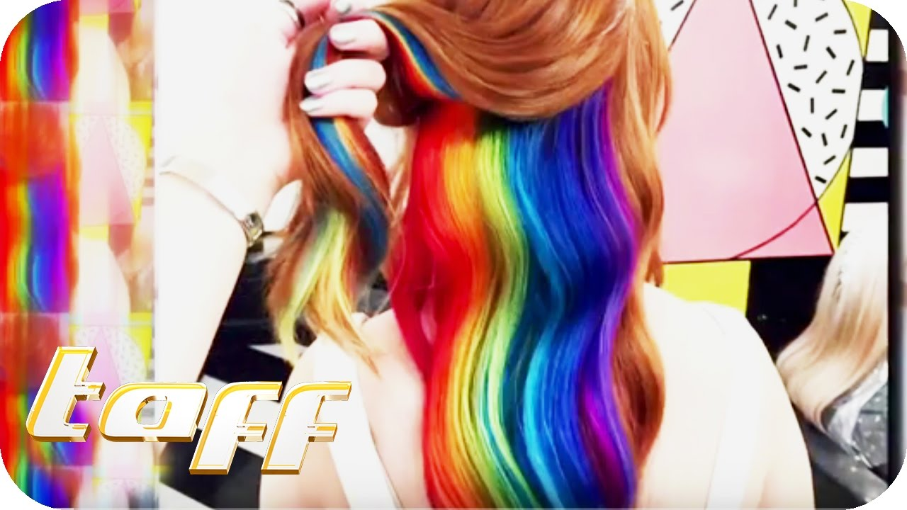 Rainbow Hair beim verrücktesten Friseursalon Londons | taff | ProSieben