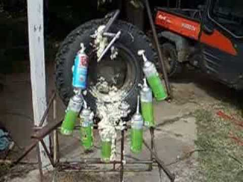 Dow Expanding Foam Filled Tire Kubota Rtv 1100 Youtube