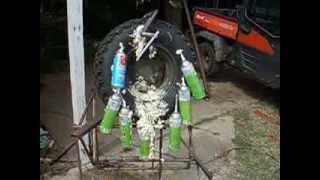 Dow expanding  foam filled tire Kubota RTV 1100